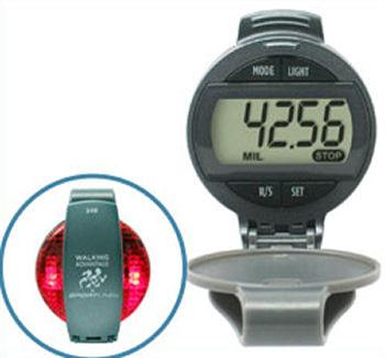 Flashing Safety Light Pedometer